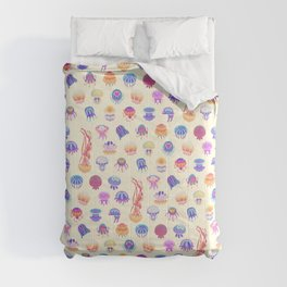Jellyfish Day - pastel Comforters