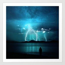 Storms Coming... Art Print