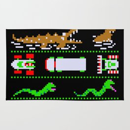 Ugly Christmas Frogger Sweater Rug
