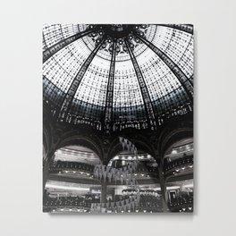 Admiring the Galeries Lafayette. Metal Print