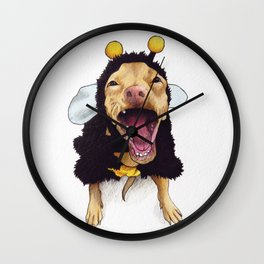 Chihuahua in bee costume - Tuna Wall Clock