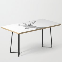 Black and white deer animal portrait Coffee Table