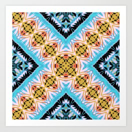 ethnic cross Art Print