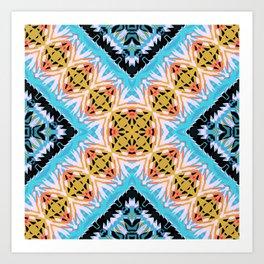 ethnic cross Art Print