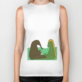 Dinosaur and anteater Biker Tank