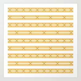 Sorrento Gold Mud Cloth Art Print