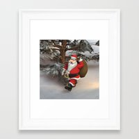 santa Framed Art Prints featuring Santa by Design Windmill