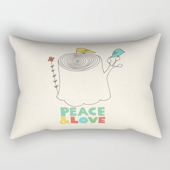 Peace & Love Rectangular Pillow