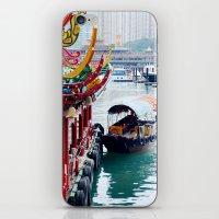 hong kong iPhone & iPod Skins featuring Hong Kong  by Juliette
