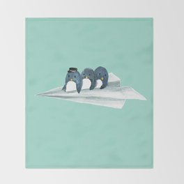 Let's travel the world Throw Blanket