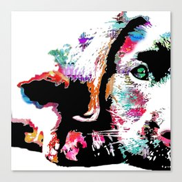 riley the lab pup Canvas Print