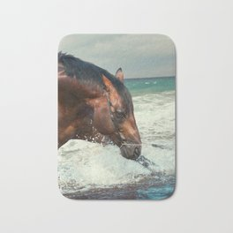 horse collection. Trakehner. swimm Bath Mat