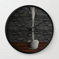 milk Wall Clocks featuring Milk by Littlebell