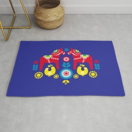 Swedish Dalahäst Rug