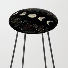 Moonlight Garden - Olive Green Counter Stool
