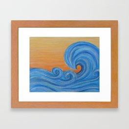 Sea Ya Later surf wave art painting Framed Art Print
