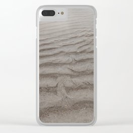 Ripples of Sand at the Shore Clear iPhone Case