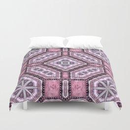 Victorian Art Deco Medieval Pattern light purple SB25 Duvet Cover