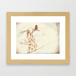 ANGRY TREE. Framed Art Print