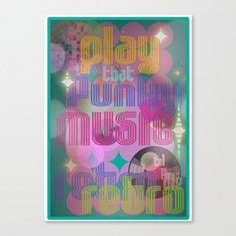 Funky Retro Canvas Print