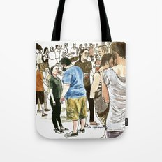 After it rained at McCarren Pool, we stopped and stared. I wish the moment lasted forever. Tote Bag