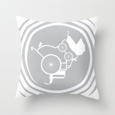 LifeCycle (spiral) Throw Pillow