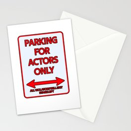 Actor Parking sign theater stage Stationery Cards