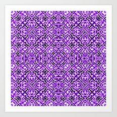 Mix #213 Purple Art Print
