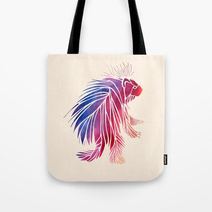 Watercolor Porcupine Tote Bag