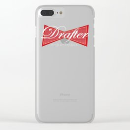 Drafter King of Trades Drafting CAD Clear iPhone Case