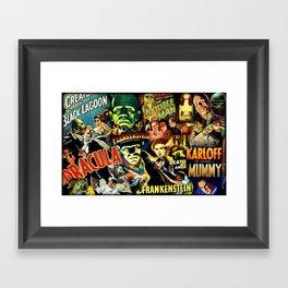 Classic Monster Movie Posters Framed Art Print