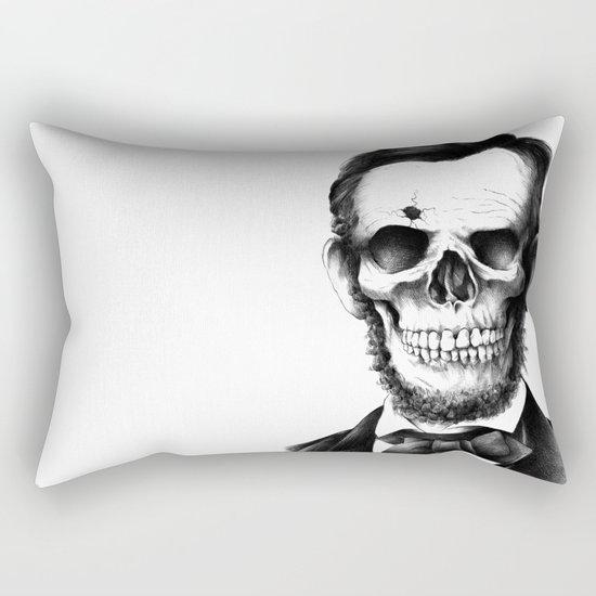 Lincoln Skull Rectangular Pillow