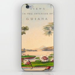 Historical Vintage Hand Drawn Illustration of Guyana South America Natural Scenes iPhone Skin