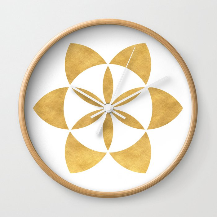 SEED OF LIFE minimal sacred geometry Wall Clock by deificusart