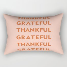 Grateful Thankful pink Rectangular Pillow