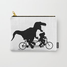 Gone Squatchin cycling with T-rex Carry-All Pouch