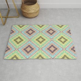 Colorful abstract pattern, patchwork, multicolored, plaid 2 Rug