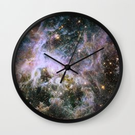 Cosmic Tarantula Nebula (infrared view) Wall Clock