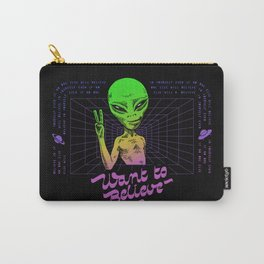 Want To Believe Carry-All Pouch