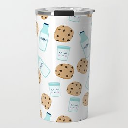 Milk and cookies pattern white cute kids decor boys or girls room design Travel Mug