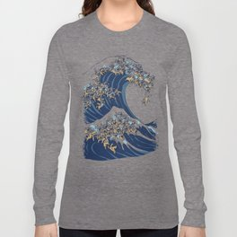 The Great Wave Of  Cat Langarmshirt