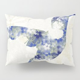 Blue Hummingbird Art Pillow Sham