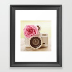 Rose Fisheye  Framed Art Print