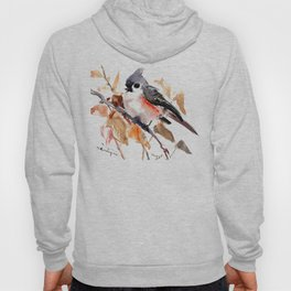 titmouse in the fall, Fall colors, birds and flowers bird art Hoody