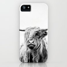 portrait of a highland cow - vertical orientation iPhone SE Slim Case