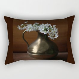 Bird Cherry in the vintage jar Rectangular Pillow