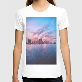 Sunset Over the City (Color) T-shirt