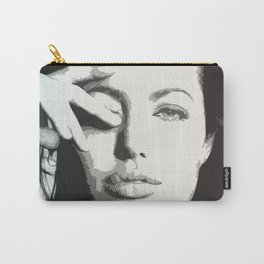 angelina jolie grayscale Carry-All Pouch