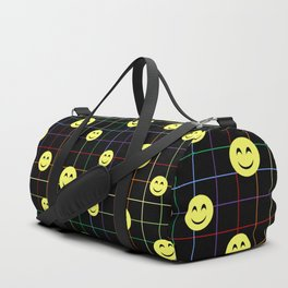 Colorful Smiley Emoji 4 - black Duffle Bag