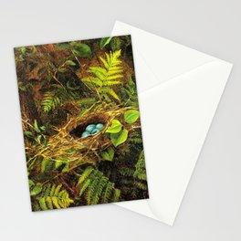 Still Life with Robin's Nest by Fidelia Bridges Stationery Cards